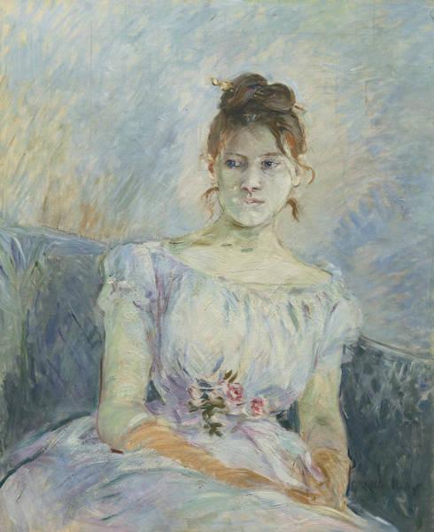 Painting - Paule Gobillard En Robe De Bal by Berthe Morisot