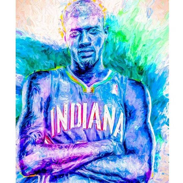 Wall Art - Photograph - #paulgeorge #indianapacers #pacers by David Haskett II
