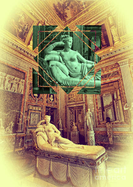 Photograph - Pauline Bonaparte Sculpture Borghese Gallery Rome Italy by Beverly Claire Kaiya