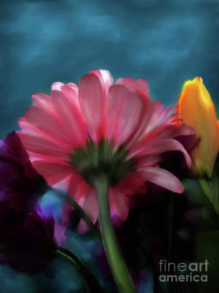 Digital Art - Paul's Posies by Lisa Redfern