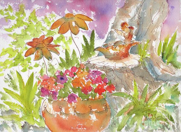 Painting - Pausegarden Medley by Pat Katz