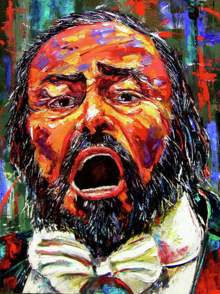 Wall Art - Painting - Pavarotti by Debra Hurd
