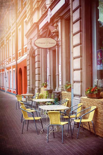 Outdoor Cafe Photograph - Pavement Cafe Riga Latvia by Carol Japp