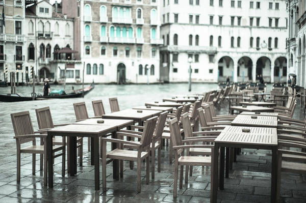 Photograph - Pavement Cafe, Venice by Jean Gill