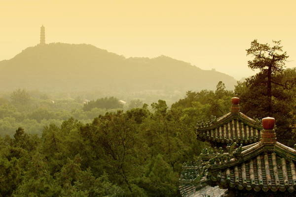 Wall Art - Photograph - Pavilion Rooftops And Lush Foliage As Seen From The Summer Palace by Sami Sarkis