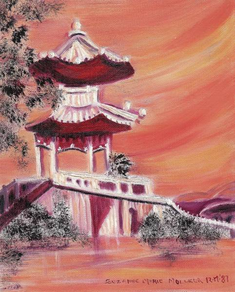 Leclair Painting - Pavillion In China by Suzanne  Marie Leclair