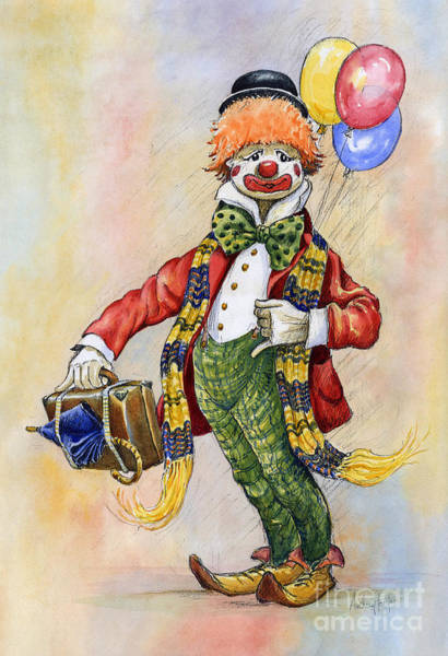 Wall Art - Painting - Pavlov The Clown by Anthony Forster