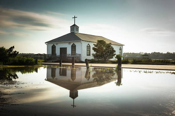 Islands Photograph - Pawleys Chapel Reflection by Ivo Kerssemakers