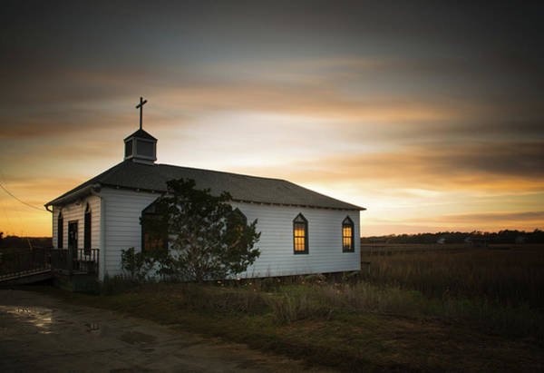 Church Photograph - Pawleys Chapel Sunset by Ivo Kerssemakers