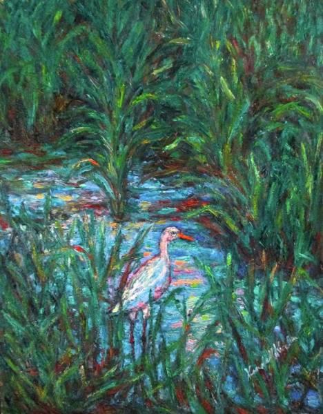 Painting - Pawleys Island Egret by Kendall Kessler