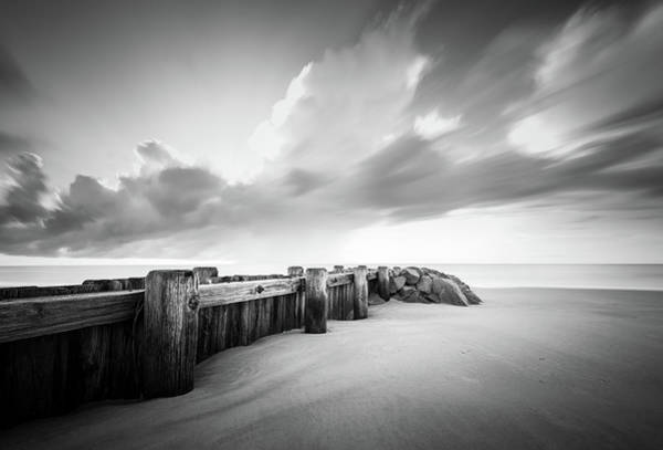 Wall Art - Photograph - Pawleys Island Groin Sunrise Bw by Ivo Kerssemakers