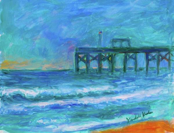 Painting - Pawleys Pier Stage One by Kendall Kessler