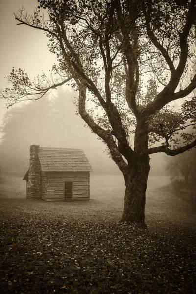 Photograph - Paw's Cabin-sepia by Joye Ardyn Durham
