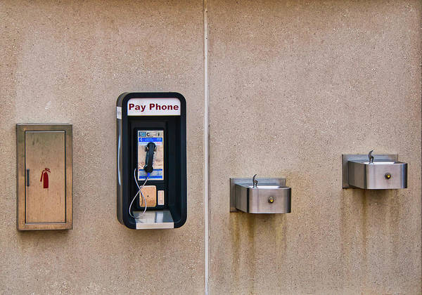 Photograph - Pay Phone And Bubblers - Madison - Wisconsin by Steven Ralser