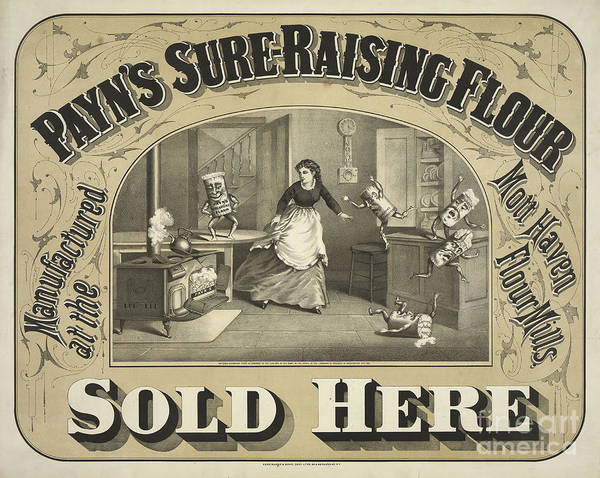Raising Wall Art - Photograph - Payn's Sure Raising Flour Ca. 1880 by Jon Neidert