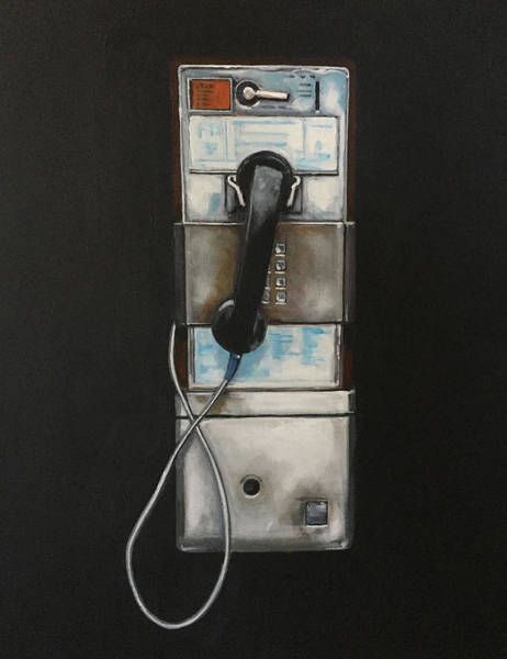 Isolated Painting - Payphone by Jeffrey Bess