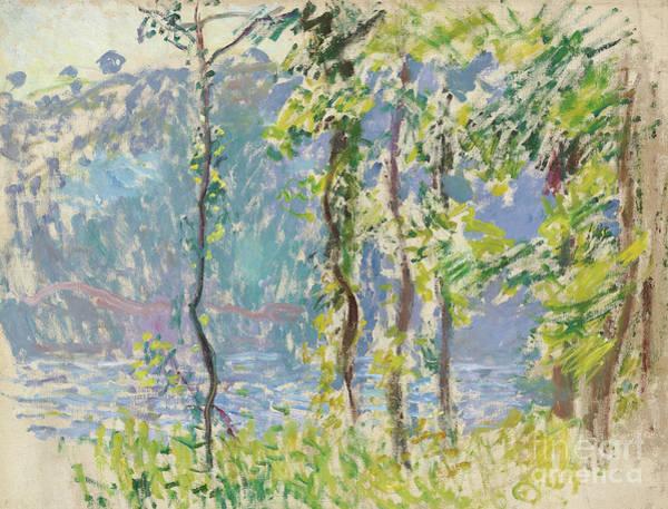 Wall Art - Painting - Paysage A Villez by Claude Monet