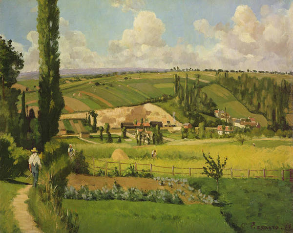 Wall Art - Painting - Paysage Aux Patis, Pointoise by Camille Pissarro