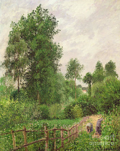 Paysage Wall Art - Painting - Paysage, Temps Gris A Eragny by Camille Pissarro