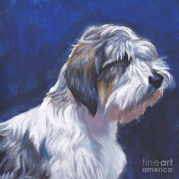 Wall Art - Painting - pbgv Petit Basset Griffon Vendeen by Lee Ann Shepard