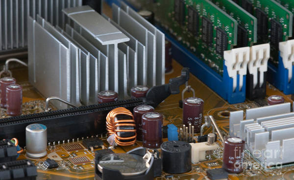 Photograph - Pc Motherboard by Dale Powell