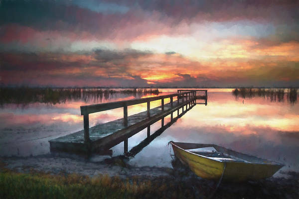 Photograph - Peace After The Rain In Watercolors by Debra and Dave Vanderlaan