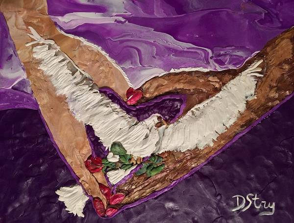Mixed Media - Peace And Love by Deborah Stanley