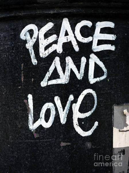 Photograph - Peace And Love In Barcelona by John Rizzuto