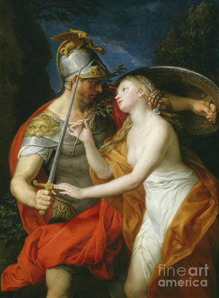Painting - Peace And War by Pompeo Girolamo Batoni
