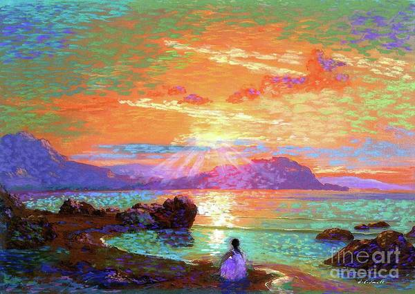Spiritual Painting - Peace Be Still Meditation by Jane Small