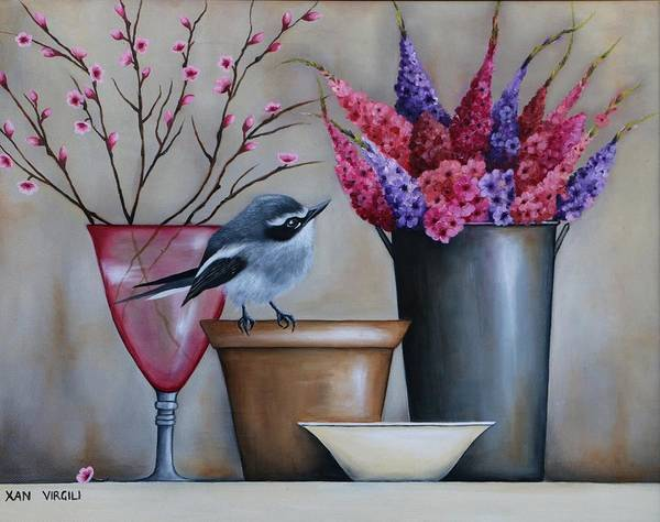 Flycatcher Painting - Peace Blooms by Xan Virgili