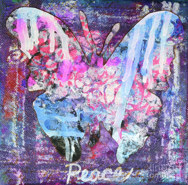 Painting - Peace Butterfly by Lisa Crisman