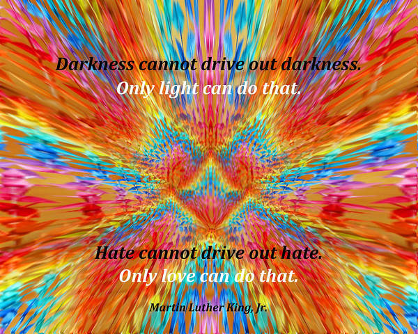 Lgbtq Digital Art - Peace Crane Love - Darkness, Light, Hate, Love by Artistic Mystic