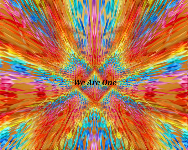 Lgbtq Digital Art - Peace Crane Love - We Are One by Artistic Mystic