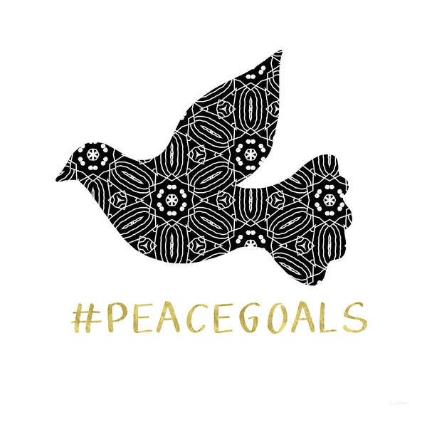 Holiday Wall Art - Digital Art - Peace Goals- Art By Linda Woods by Linda Woods