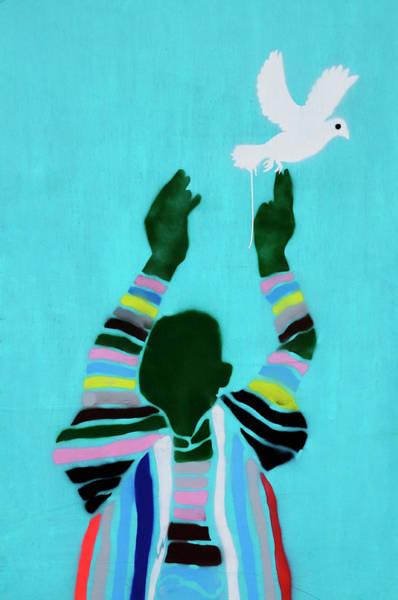 Wall Art - Photograph - Peace Graffiti by Liz Pinchen