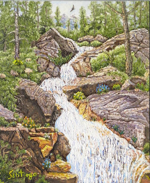 Painting - Peace In The Sierras by Santiago Chavez