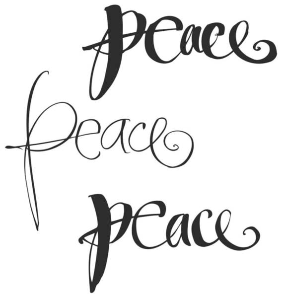 Wall Art - Photograph - Peace Lettering With Variations - Ai by Gillham Studios