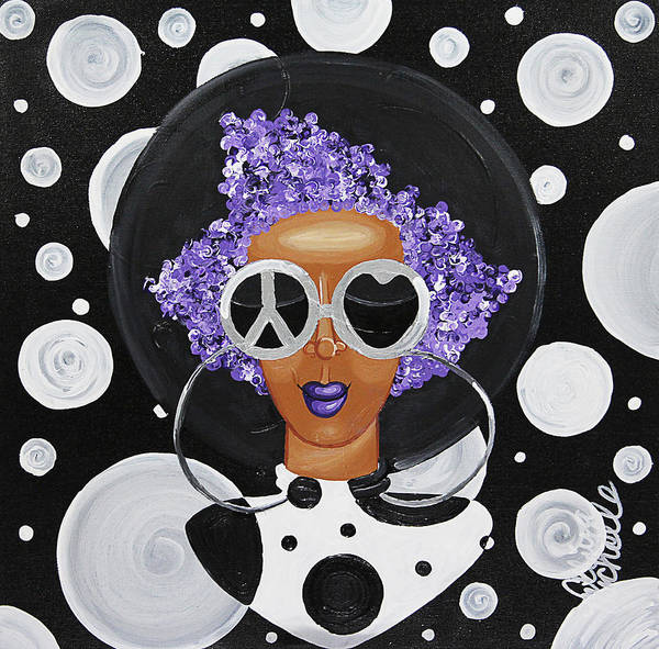 Painting - Peace, Love, Polka Dots by Aliya Michelle