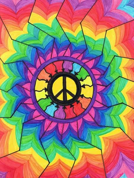 Wall Art - Painting - Peace Mandala by Cheryl Fox