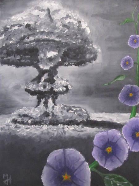 Destructive Painting - Peace by Michael Holmes