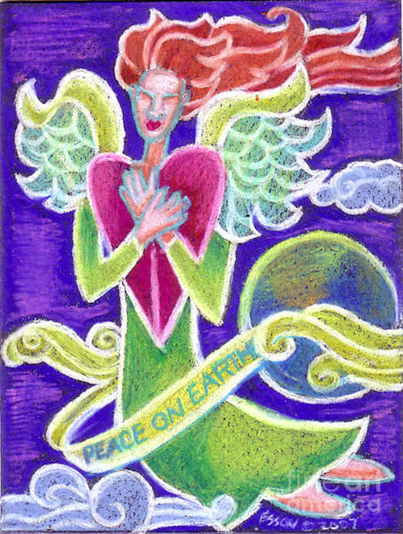 Healing Drawing - Peace On Earth by Genevieve Esson
