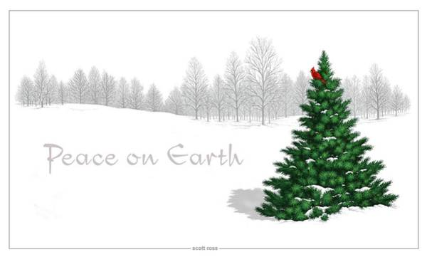 Digital Art - Peace On Earth by Scott Ross