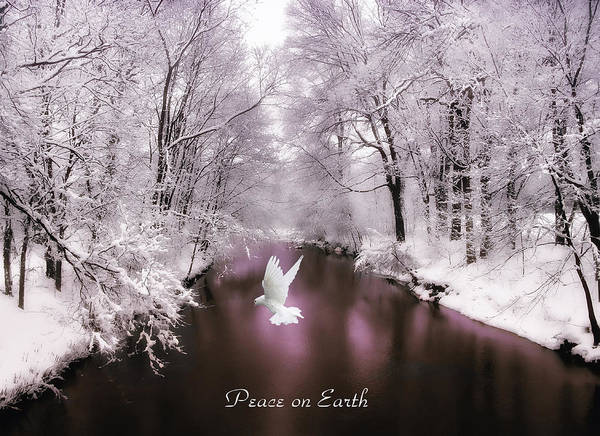 Photograph - Peace On Earth With Text by Jessica Jenney