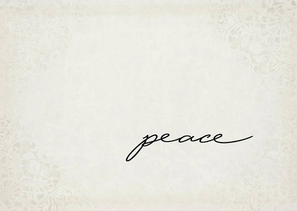 Wall Art - Digital Art - Peace One Word Series by Ricky Barnard