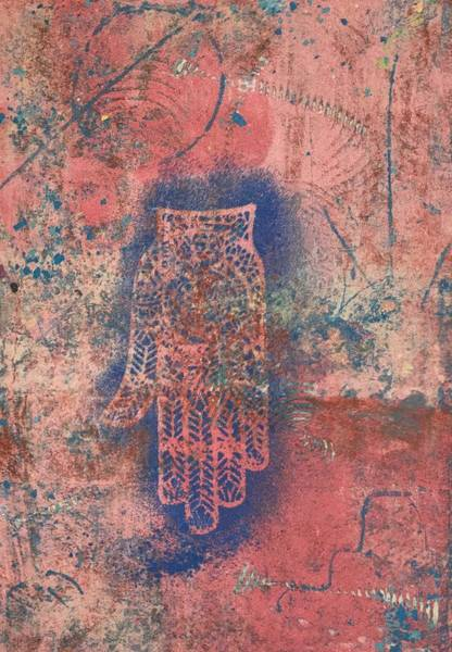 Monotype Mixed Media - Peace Prayer by Susan Richards
