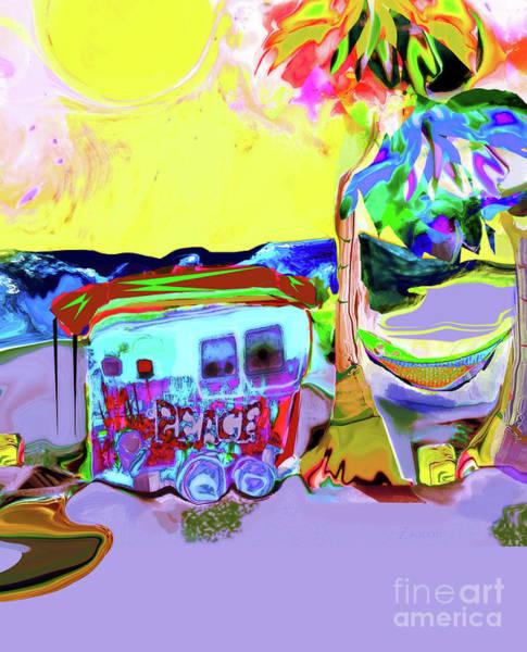 Organic Abstraction Mixed Media - Peace Rays by Zsanan Studio