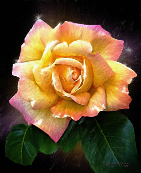 Painting - Peace Rose by Susan Kinney