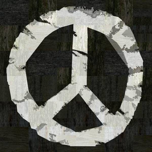 Graphic Digital Art - Peace - Rustic by Michelle Calkins