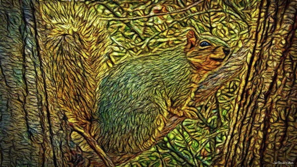 Digital Art - Peace Squirrel by Joel Bruce Wallach